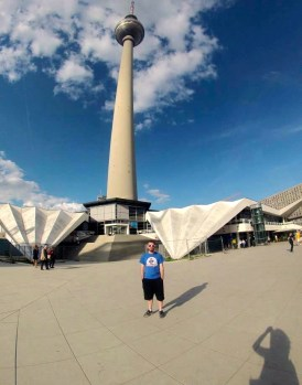 By the Berlin TV Tower.