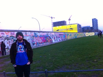By the Berlin Wall.