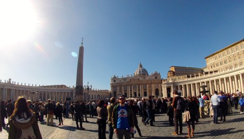 In St. Peter's Square in the Vatican City.