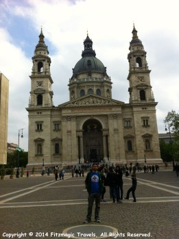 Fitzmagic outside of St. Stephen's Basilica in Budapest, Hungary.
