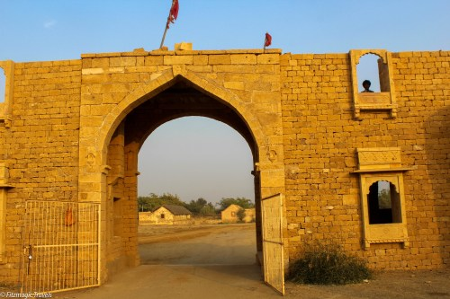 The entrance to the town has been renovated and it costs 10 rupees or so to enter.