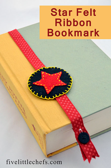 How to Make a Bookmark with Felt and Ribbon Five Little Chefs