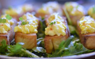 Egg Toast with Citrus Greens Recipe