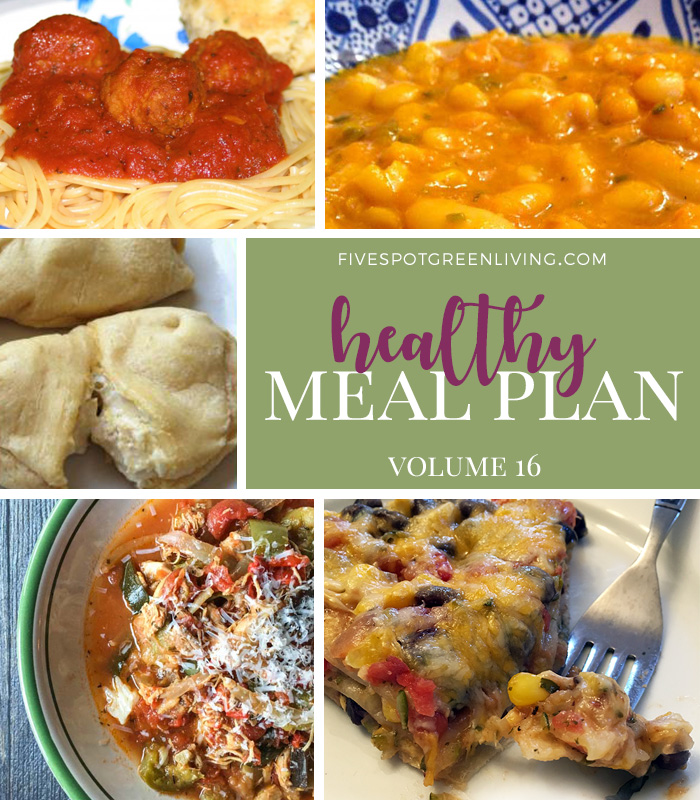 Healthy Meal Plan Weekly Volume 16 - Five Spot Green Living