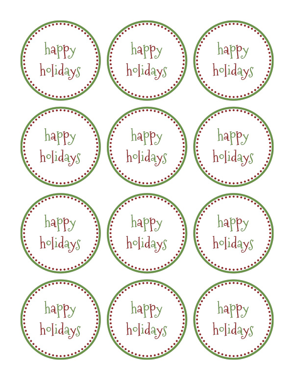 Over 35 Free Printable Christmas Gift Tags - Five Spot Green Living