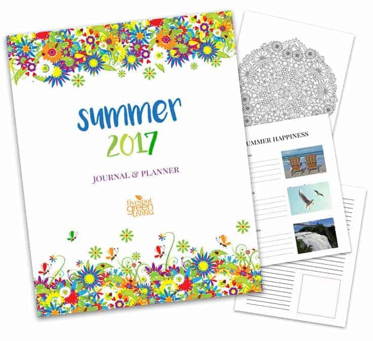 Summer Journal and Meal Planning Calendar Kit - Five Spot Green Living
