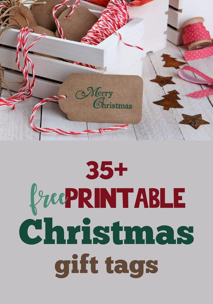Over 35 Free Printable Christmas Gift Tags - Five Spot Green Living