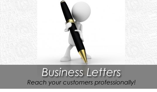 Write a professional business or sales letter for your company - professional business letters