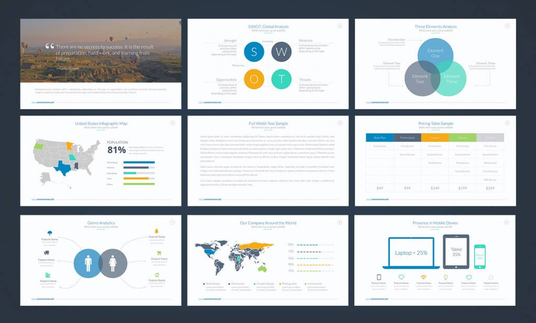 Design a PROFESSIONAL 12 slide Powerpoint presentation PPT for £50