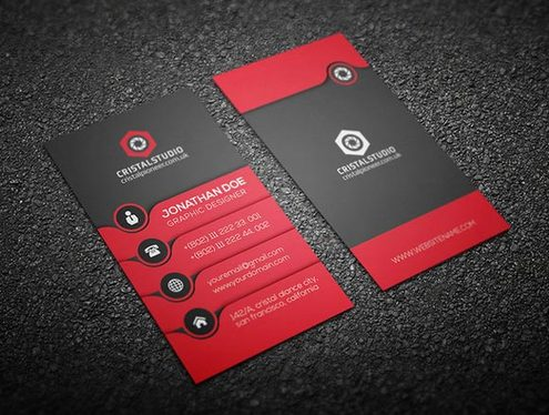 Design CLASSIC Vertical Business Card or Visiting Card for £10
