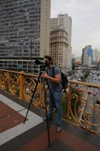 Filming in Viaduto Santa Efigência