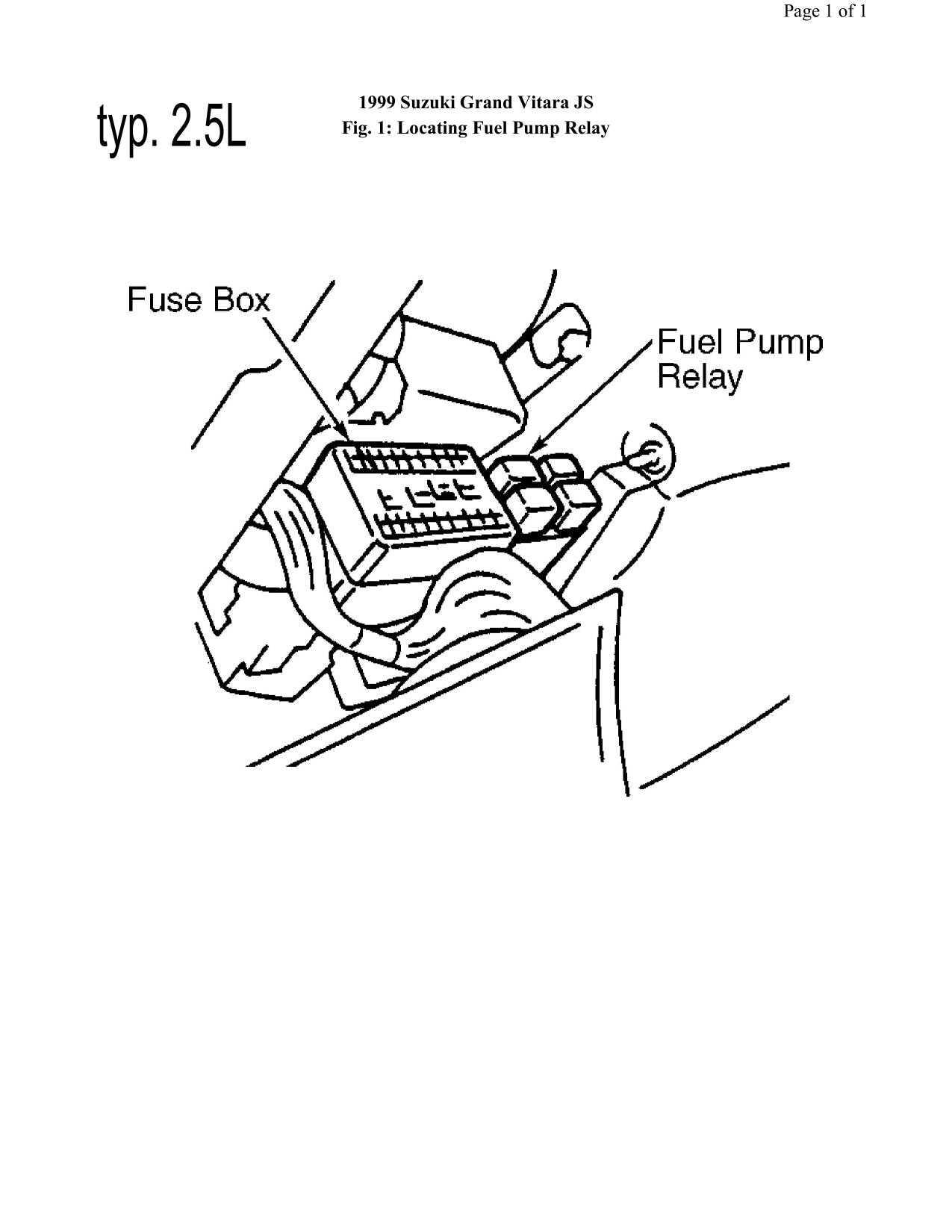 1999 suzuki grand vitara fuse box