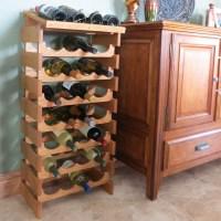 Countertop Oak Wood Wine Rack Wine Bottle Display Stand ...