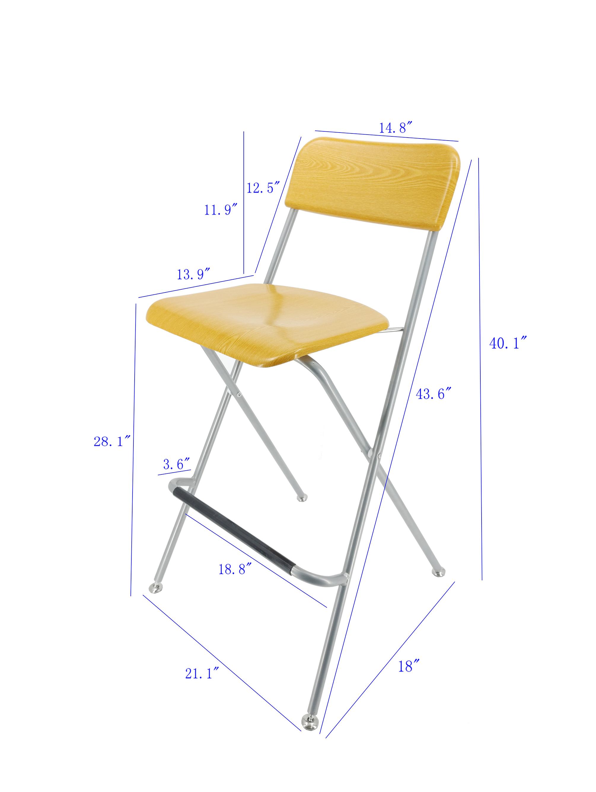 2PK Bar Chair Bistro High Chair High Chair Wood Metal