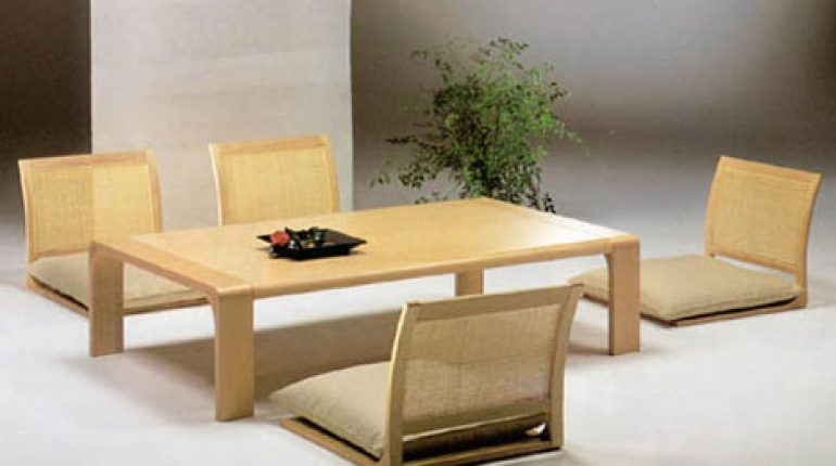Japanese Floor Dining Table Style Set Low Japanese Floor