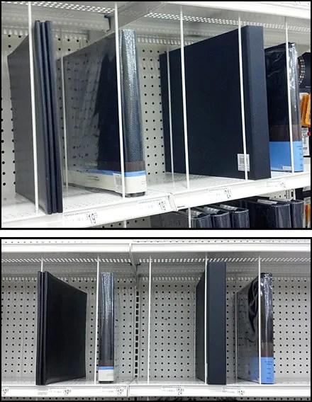 Vertical Wire Strut As Shelf Divider Fixtures Close Up