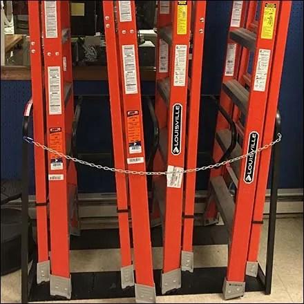 Freestanding Vertical Ladder Rack Display Fixtures Close Up