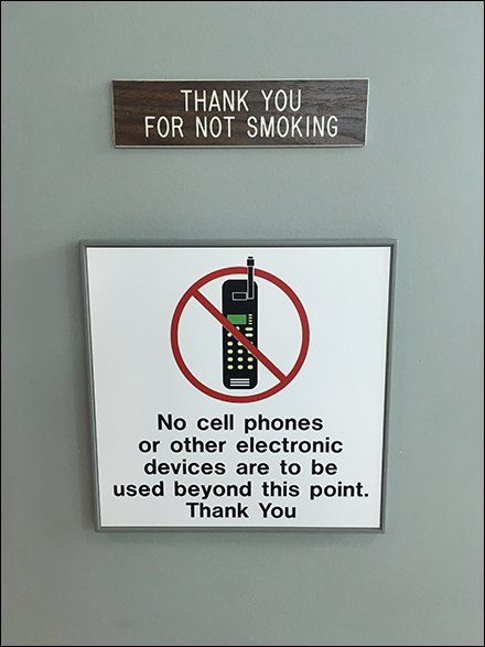 No Cell Phone Or Electronic Devices Permitted \u2013 Fixtures Close Up