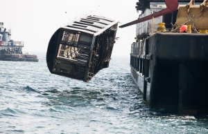 NYC Subway Cars Being Dumped in the Atlantic Ocean
