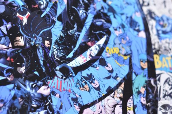 Batman Portrait Made Using Collage Of Batman Comic Art