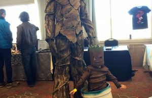 Daddy and Baby Groot Cosplay