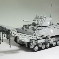 Fully motorized M4 Sherman Crab tank