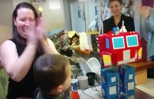 Dreamy Transforming Optimus Prime Birthday Cake