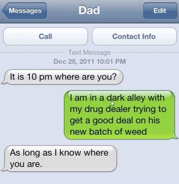 8 Hilarious Texts From Very Concerned Dads