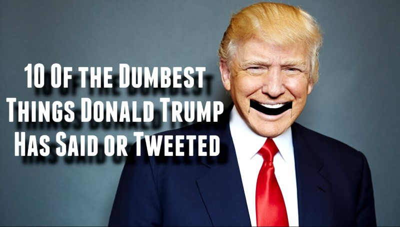 10 Of The Dumbest Things Donald Trump Has Said Or Tweeted