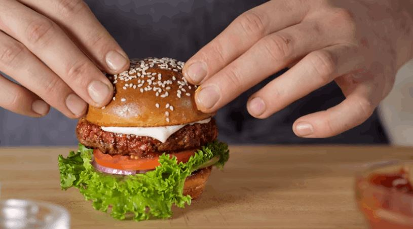 Plant-Based Burger That Looks, Smells, Cooks and Tastes Like Real Meat