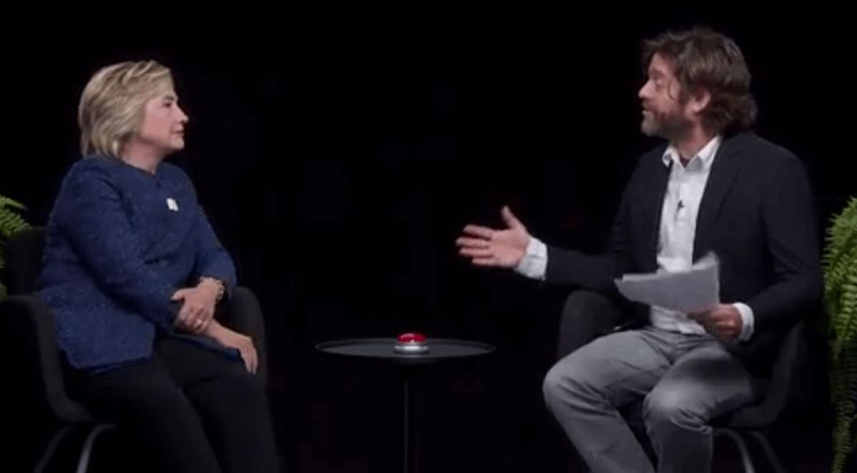 Watch Hillary Clinton's Awkward Interview With Zack Galifianakis
