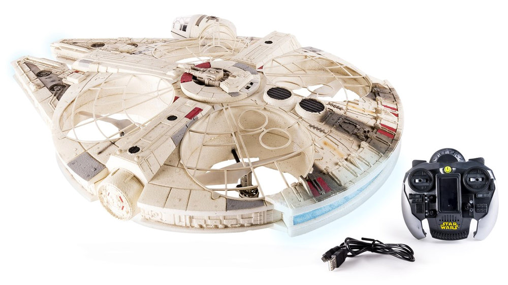 Star Wars Millennium Falcon and Speeder Bike Drones Are Incredible