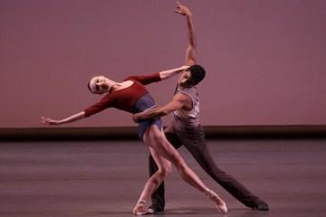 Sara Mearns and Amar Ramasar in Justin Peck's 'Rōdē,ō- Four Dance Episodes. Photograph by Paul Kolnik