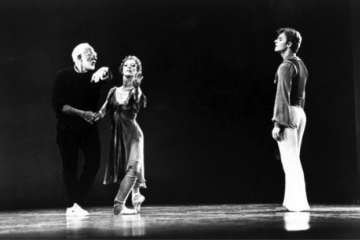 "Rehearsing ""Other Dances."" Photograph by Brownie Harris"