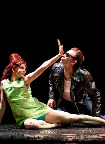 "Natalia Osipova and Sergei Polunin in Arthur Pita's ""Run, Mary, Run."" Photograph by Bill Cooper"