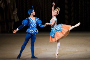 "Misty Copeland and Gabe Stone Shayer in Alexei Ratmansky's ""The Sleeping Beauty."" Photograph by Doug Gifford"