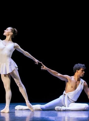 "Carlos Acosta and Marianela Núñez in Balanchine's ""Apollo."" Photograph by Johan Persson"