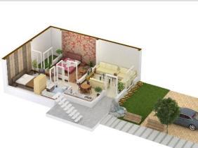 5 Marla Flat (home) 3D View of Khayaban e Amin Lahore