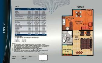 Al Wasay Towers Karachi (Layout Plan Flat Type-D & Payment Plan)