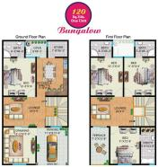 Rainbow Sweet Homes - 120 Sq Yards (One Unit) Bungalow internal Plan