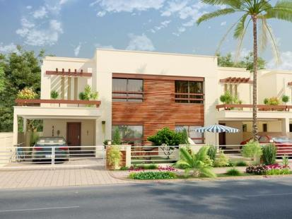 Park View Villas 3D Front View 10 Marla 4 beds House 2