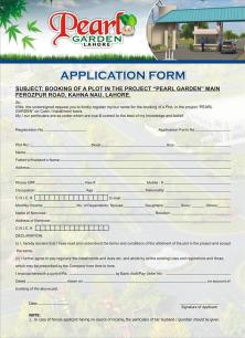 Pearl Garden Lahore Application Form 1