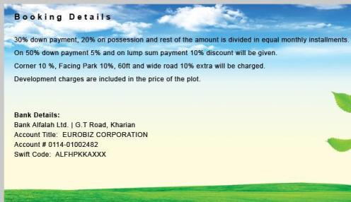 Euro City Kharian Booking Details