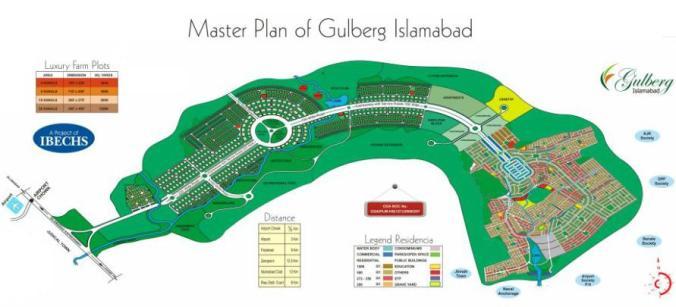 Master Plan of Gulberg Islamabad