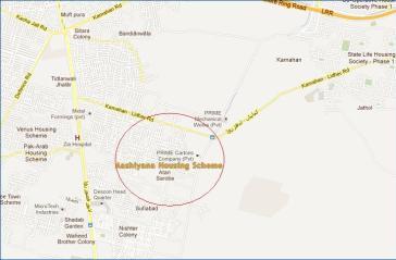 Ashiyana Housing Scheme Atari Saroba Lahore - Location Map