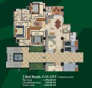 3 bed Room layout plan - Jalal complex Abbottabad
