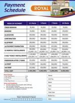 Metro Homes Multan - Royal Category Payment Plan