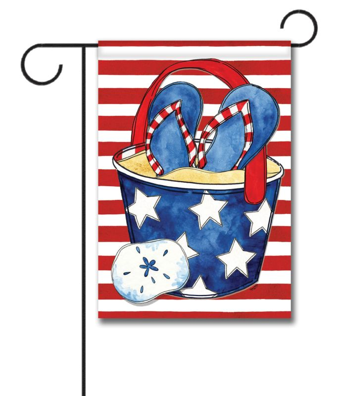 Freedom Beach Bucket Garden Flag 1253939 X 18