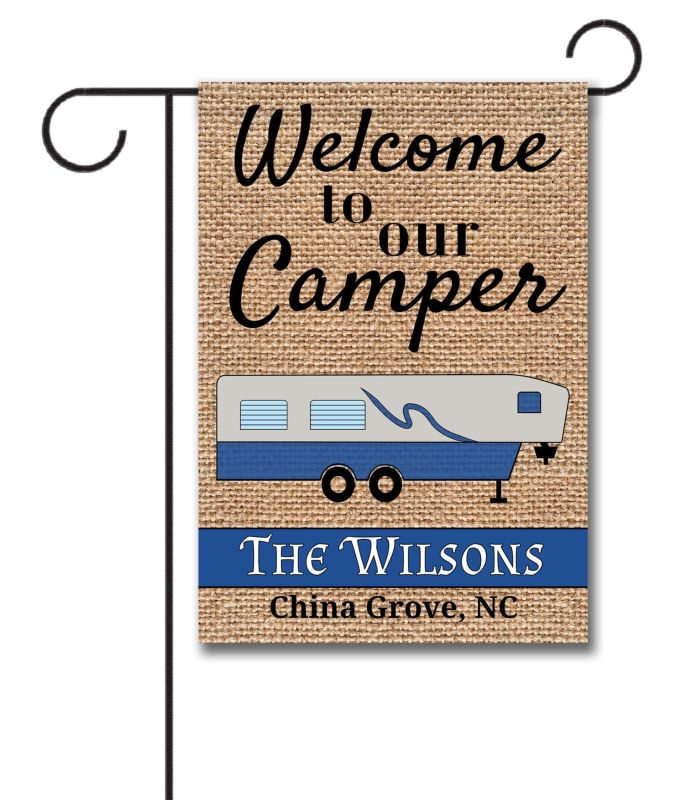 Gracious Nana Close Welcome To Our Camper Fifth Wheel Personalized Garden Flag Personalized Garden Flags Camping Personalized Garden Flags inspiration Personalized Garden Flags