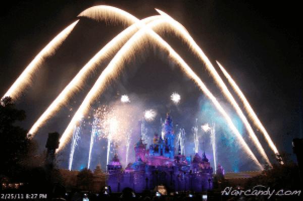 Hong Kong Disneyland Fireworks Photos